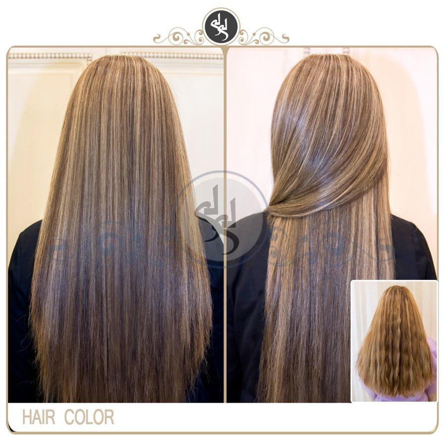 رنگ مو لمه کوپ و اصلاح مو، های لایت، رنگ و اکستنشن مو